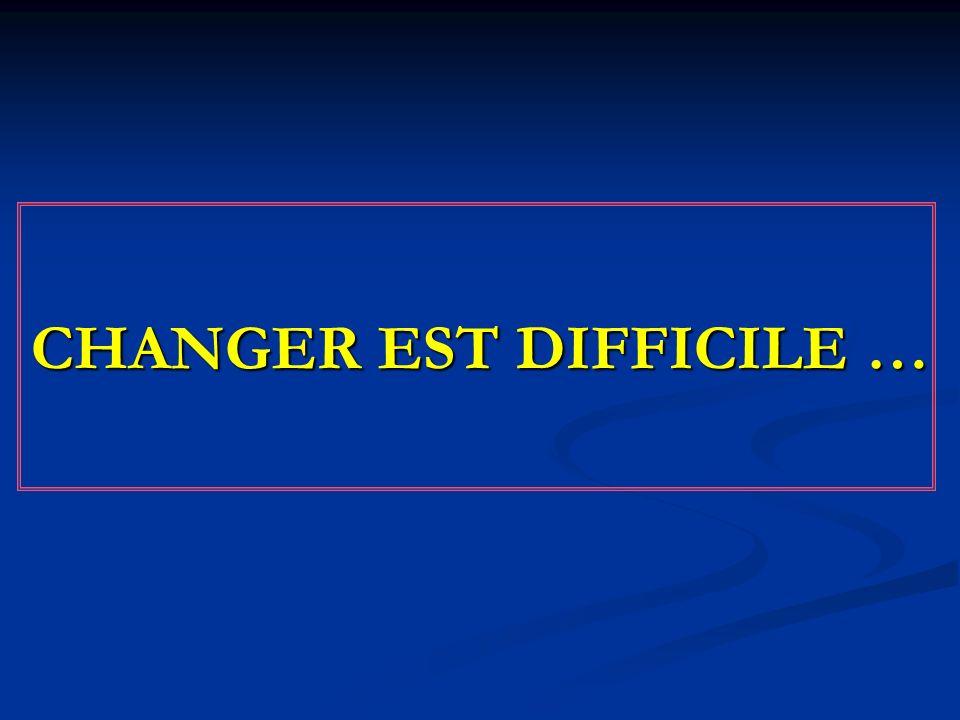 CHANGER EST DIFFICILE …