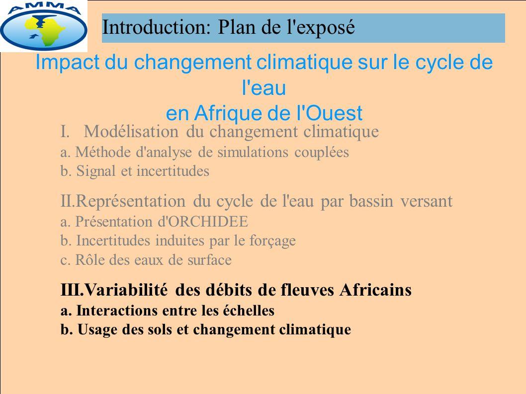 Introduction: Plan de l exposé I.Modélisation du changement climatique a.