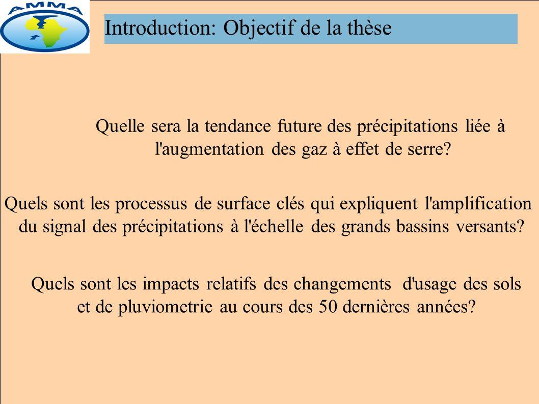 Introduction: Objectif de la thèse Quelle sera la tendance future des précipitations liée à l augmentation des gaz à effet de serre.