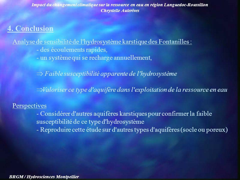 Impact du changement climatique sur la ressource en eau en région Languedoc-Roussillon Chrystelle Auterives BRGM / Hydrosciences Montpellier Analyse d
