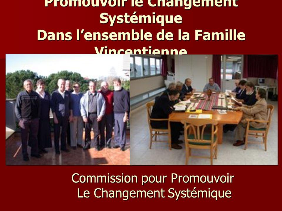 Promouvoir le Changement Systémique Dans lensemble de la Famille Vincentienne Commission pour Promouvoir Le Changement Systémique