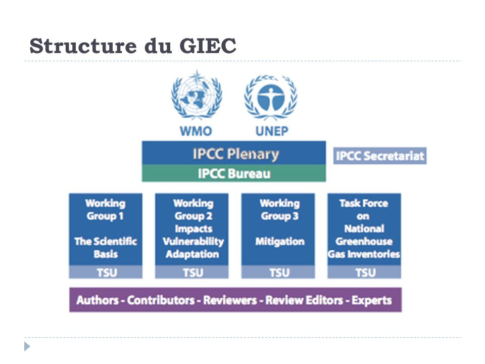 Structure du GIEC