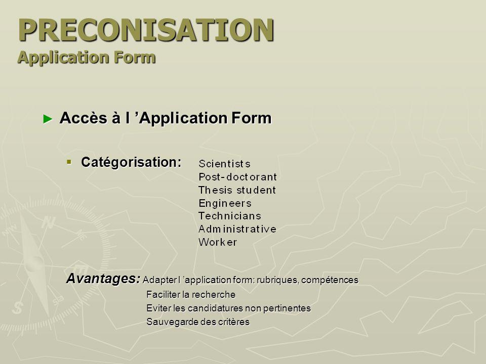 Contenu de l Application Form Contenu de l Application Form Un point de vue externe...