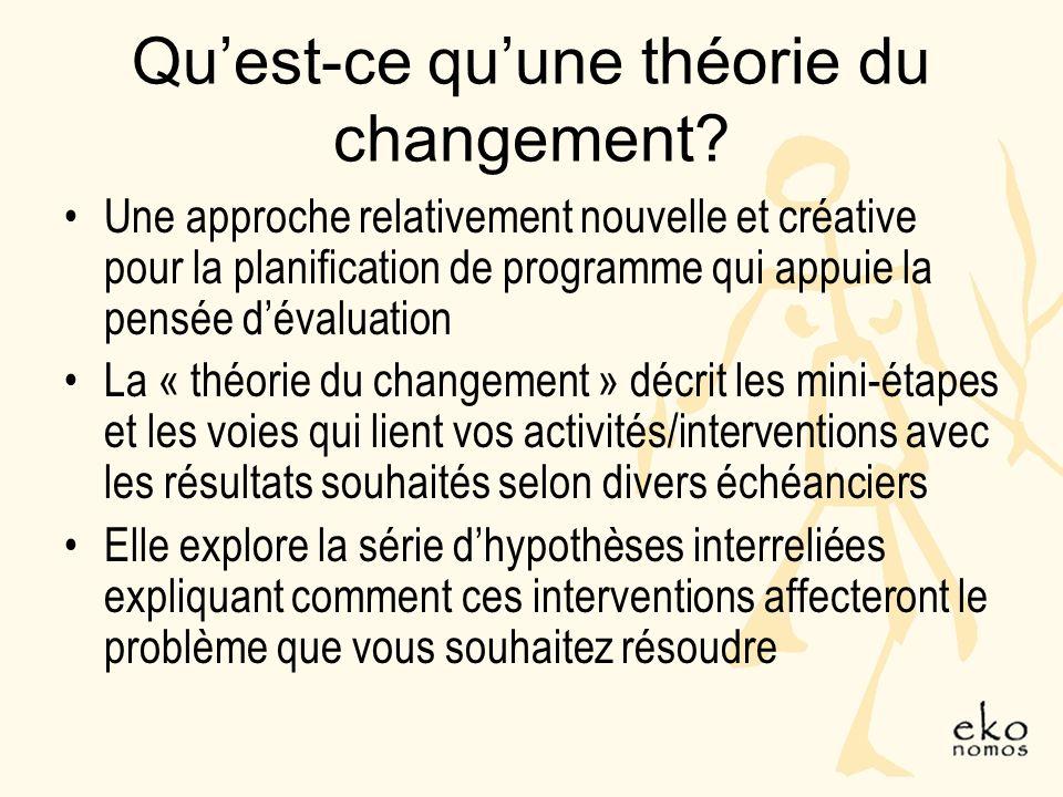 Quest-ce quune théorie du changement.