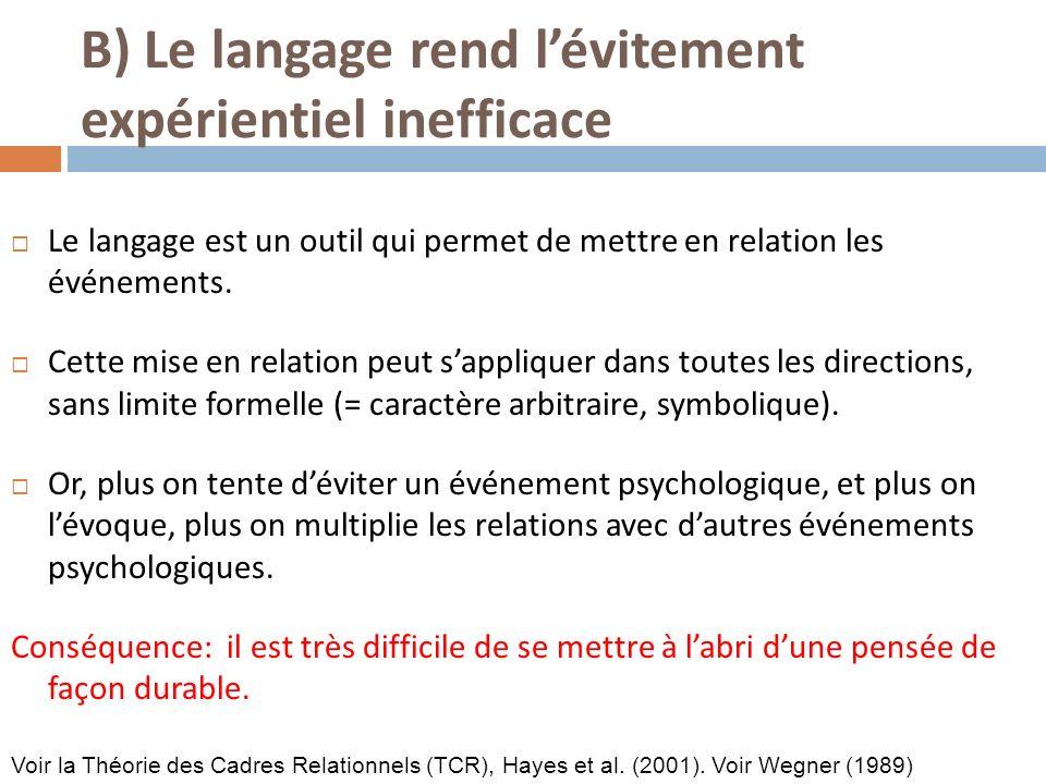 Le langage est un outil qui permet de mettre en relation les événements.