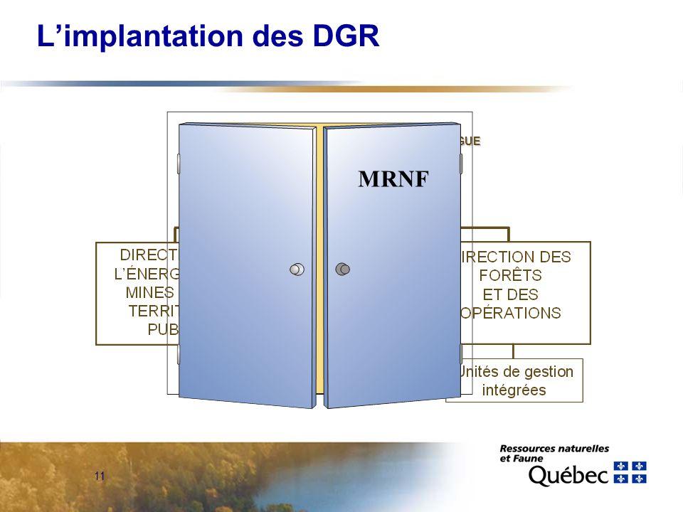 10 Limplantation des DGR AirAir
