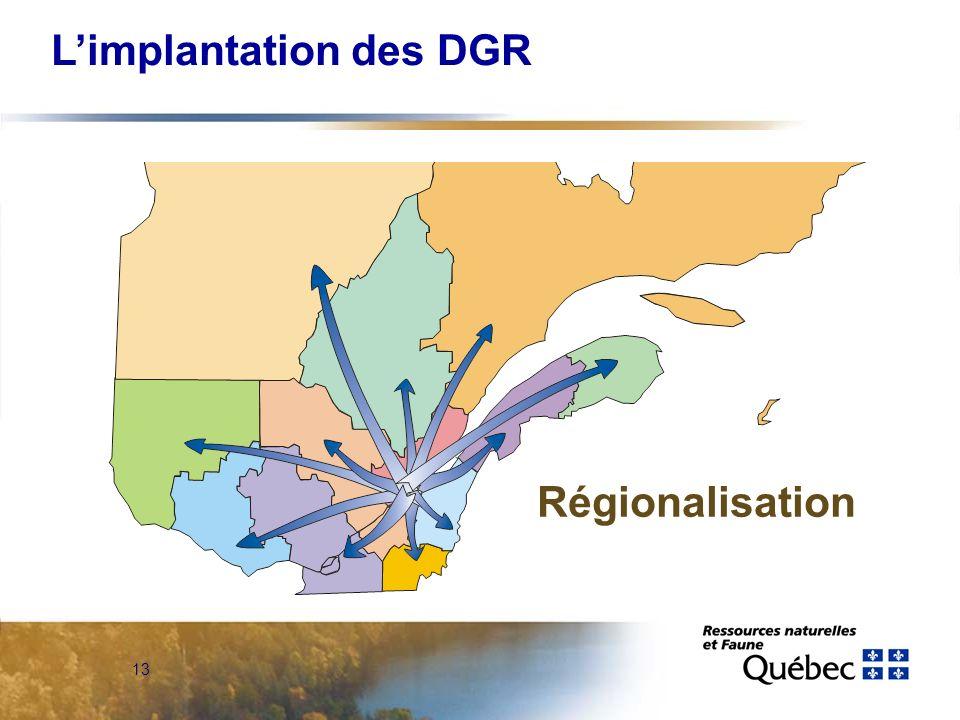 12 Limplantation des DGR