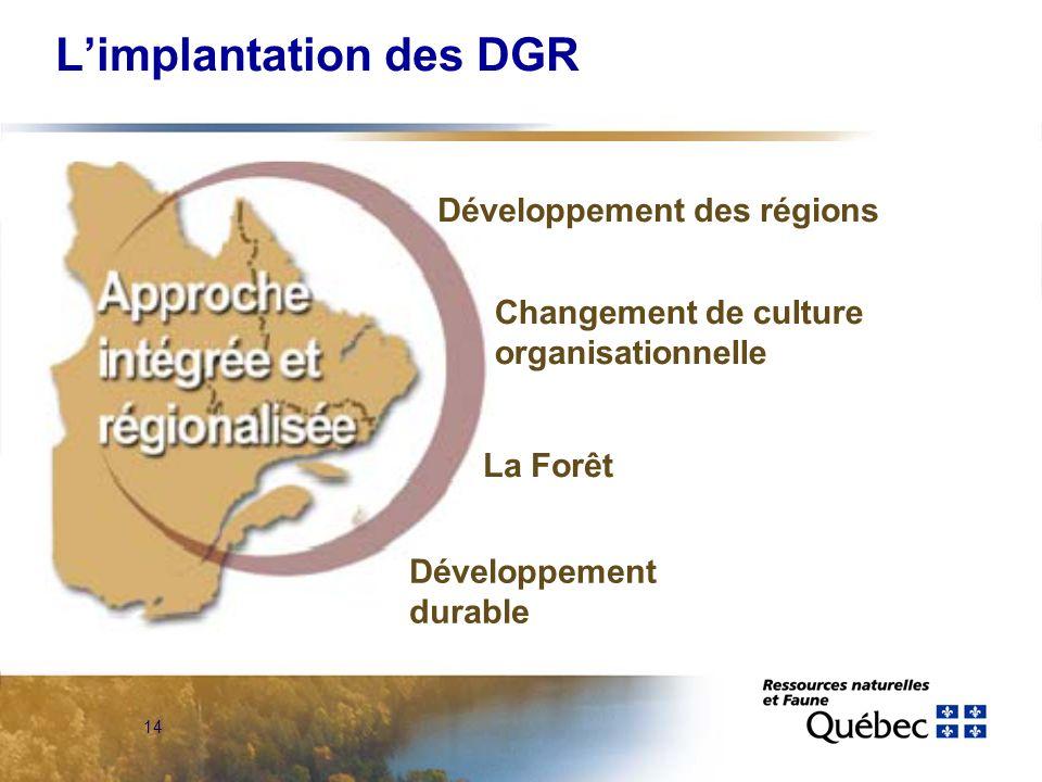 13 Limplantation des DGR Régionalisation