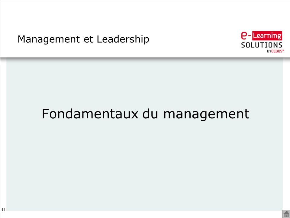11 Management et Leadership Fondamentaux du management