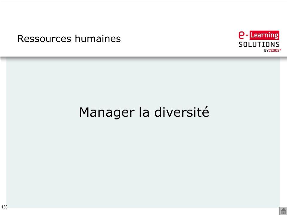136 Ressources humaines Manager la diversité