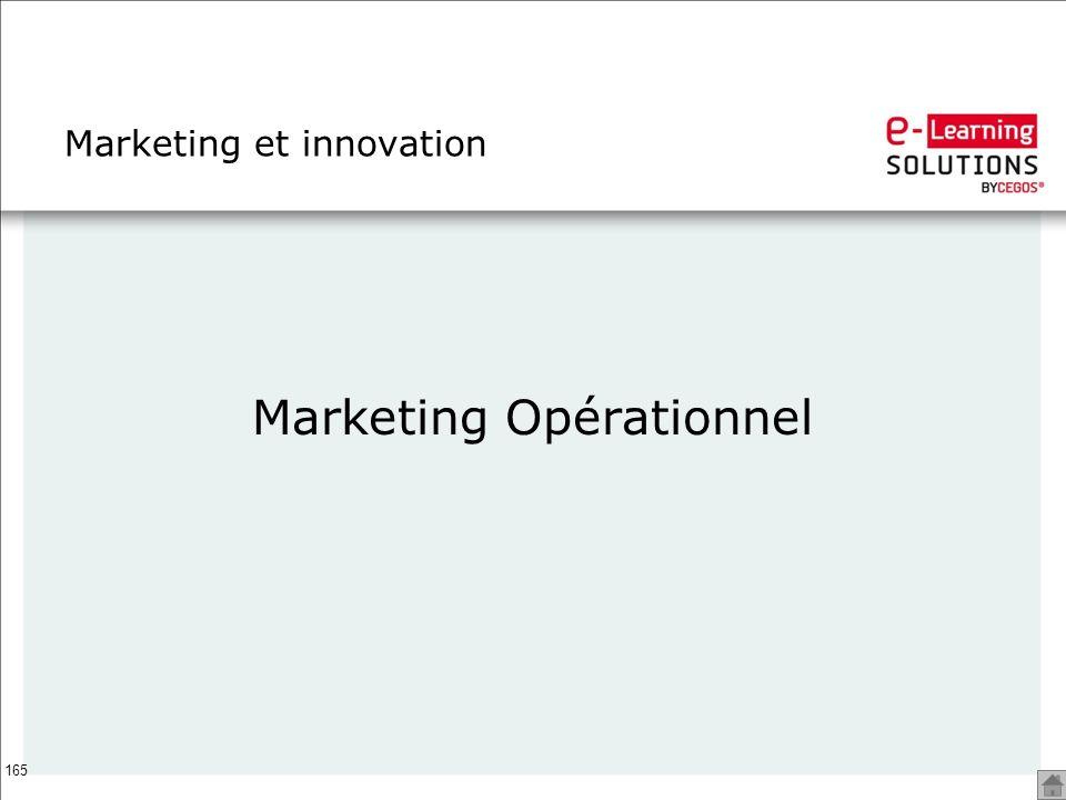 165 Marketing et innovation Marketing Opérationnel
