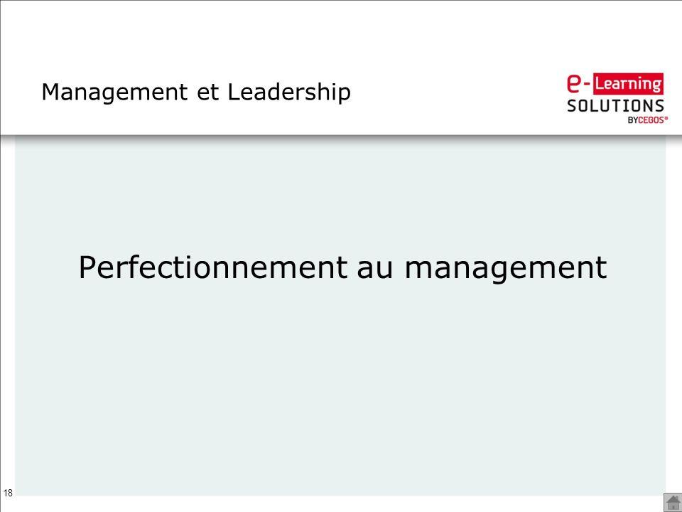 18 Management et Leadership Perfectionnement au management