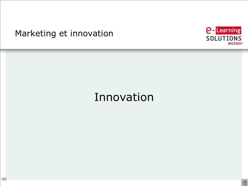 182 Marketing et innovation Innovation