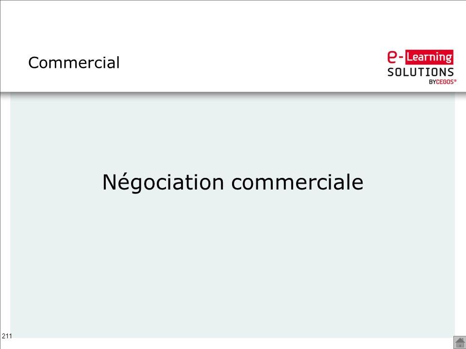 211 Commercial Négociation commerciale