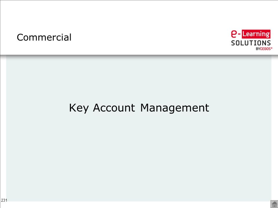 231 Commercial Key Account Management