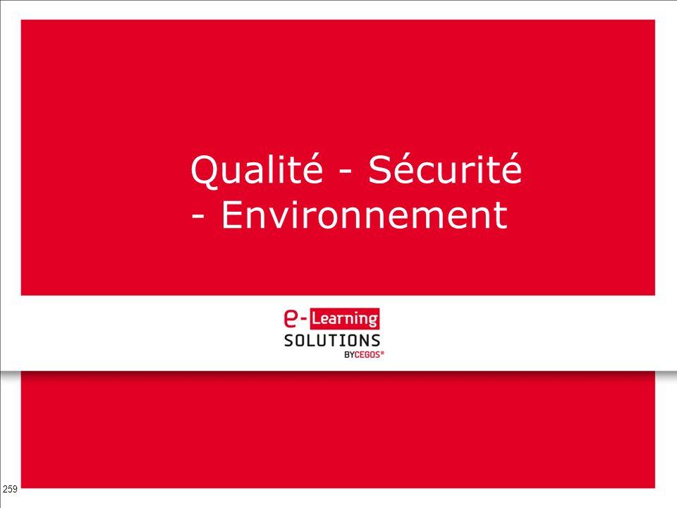 259 Qualité - Sécurité - Environnement