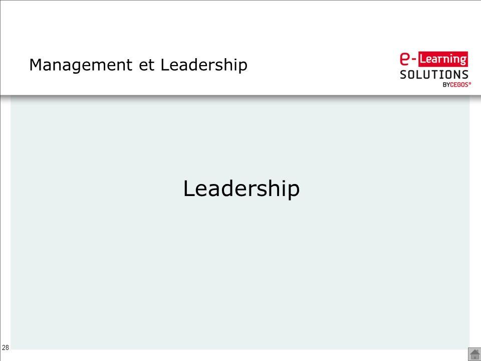 28 Management et Leadership Leadership