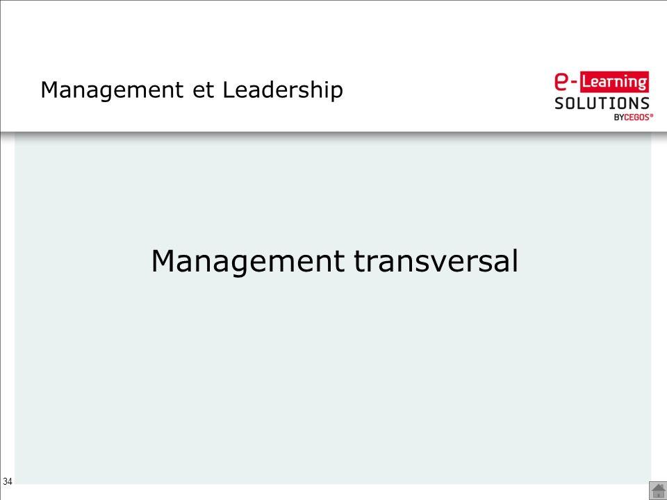 34 Management et Leadership Management transversal