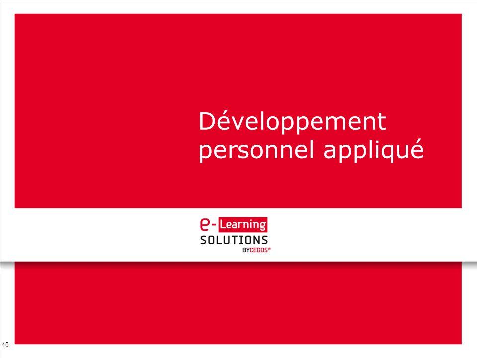 40 Développement personnel appliqué