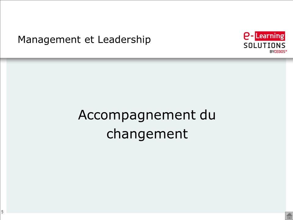 5 Management et Leadership Accompagnement du changement