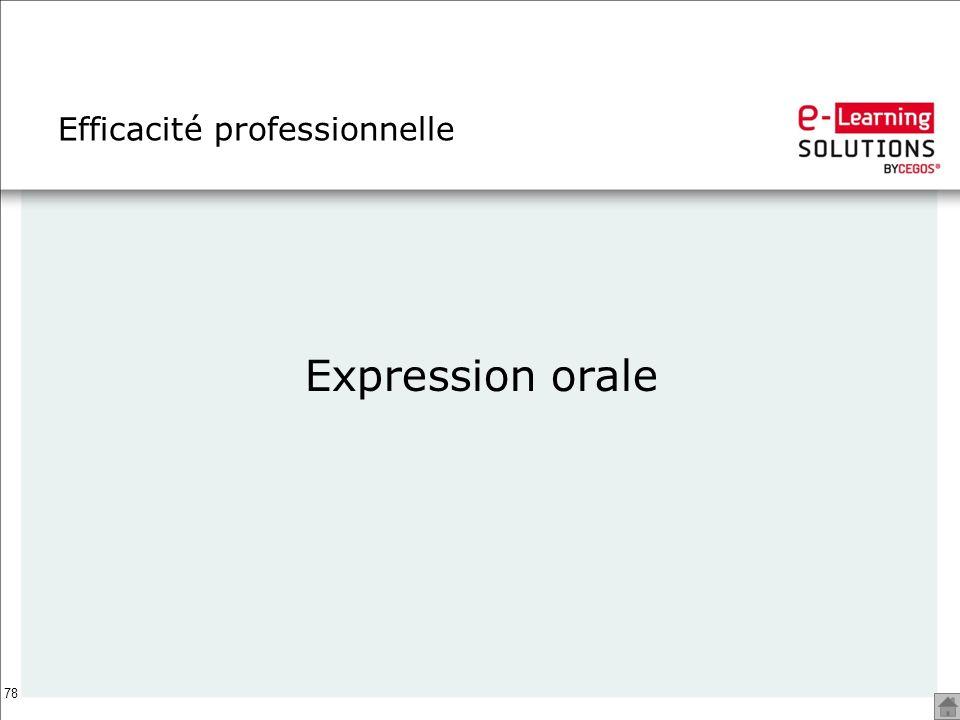 78 Efficacité professionnelle Expression orale