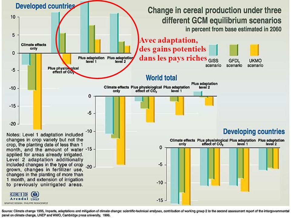 Avec adaptation, des gains potentiels dans les pays riches