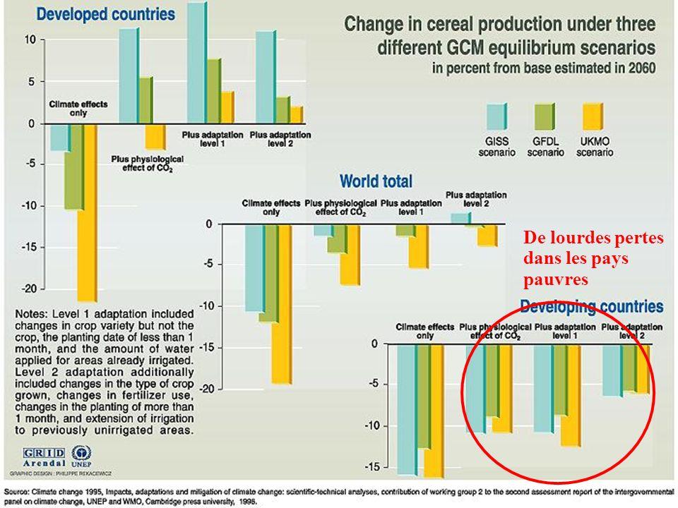De lourdes pertes dans les pays pauvres