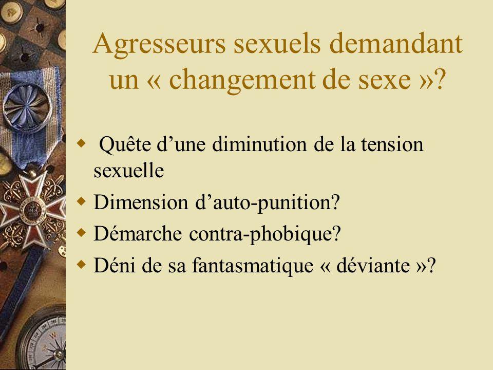 Impact de la victimisation sexuelle sur lidentité sexuée Chez les hommes Chez les femmes Le trouble de lidentité sexuée comme facteur de risques.