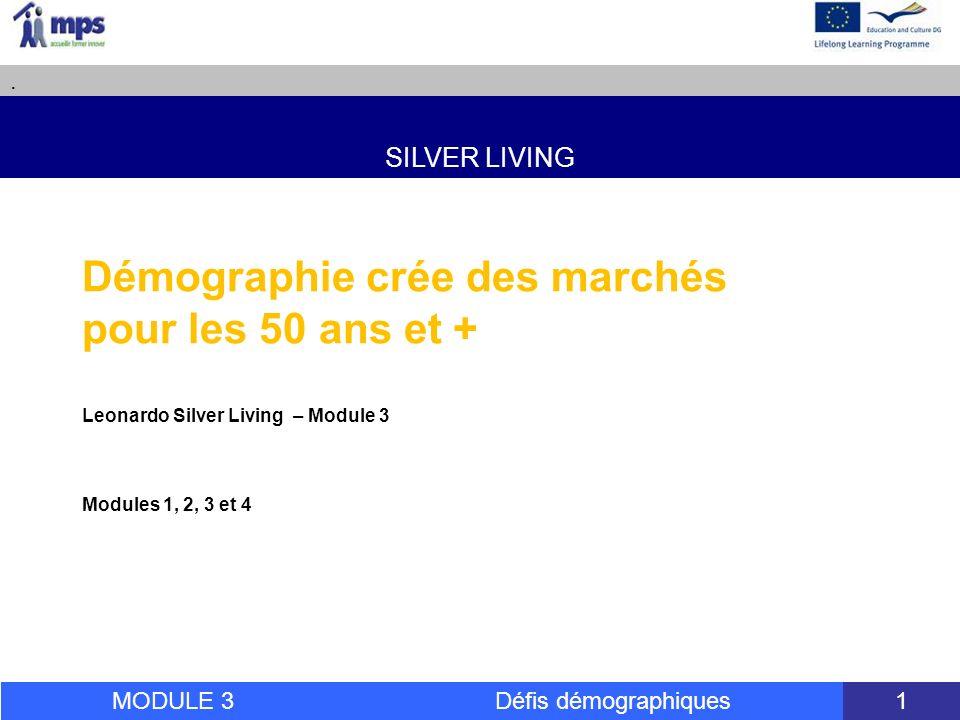 SILVER LIVING. MODULE 3 Défis démographiques 54 Merci pour votre Attention!