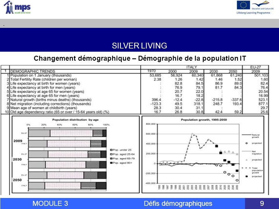 SILVER LIVING.MODULE 3 Défis démographiques 50 Conseils dactions 4.