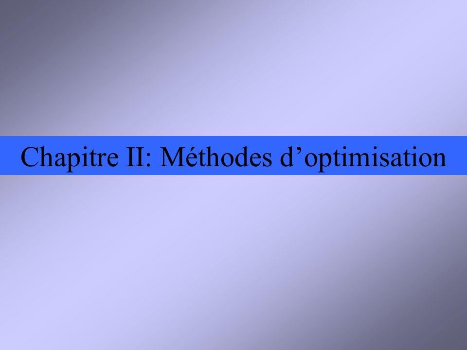 Chapitre II: Méthodes doptimisation