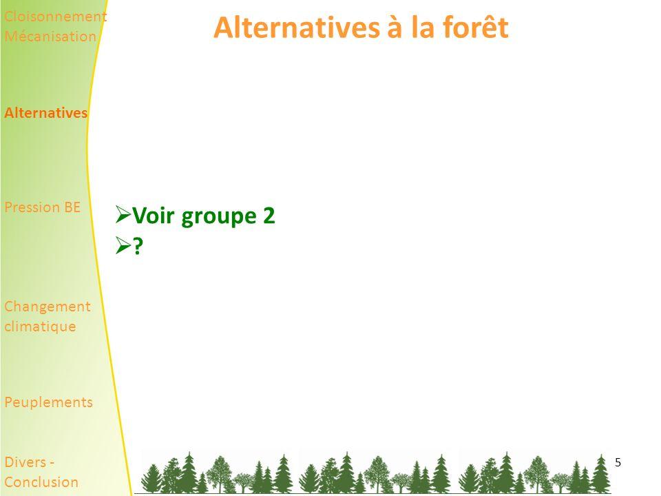 5 Alternatives à la forêt Voir groupe 2 .