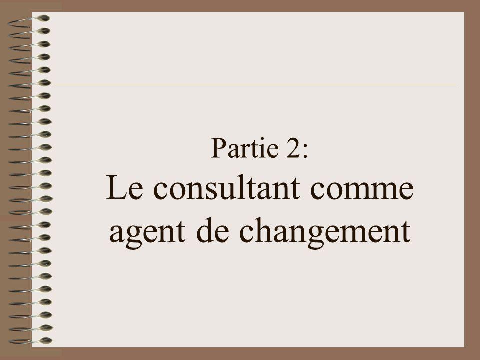 Partie 2: Le consultant comme agent de changement