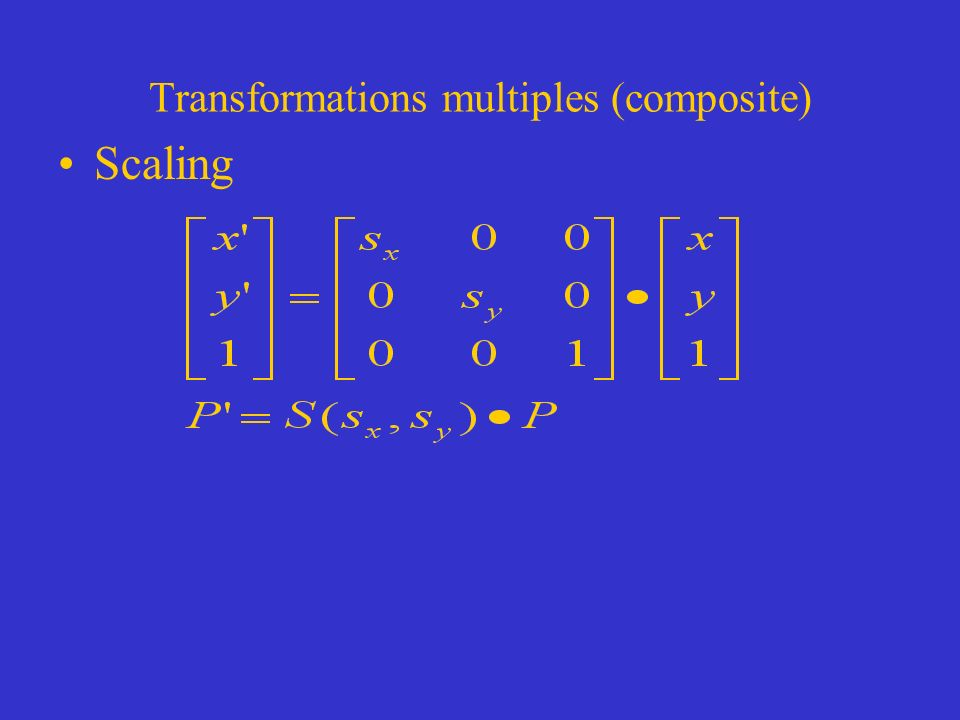 Transformations multiples (composite) Scaling