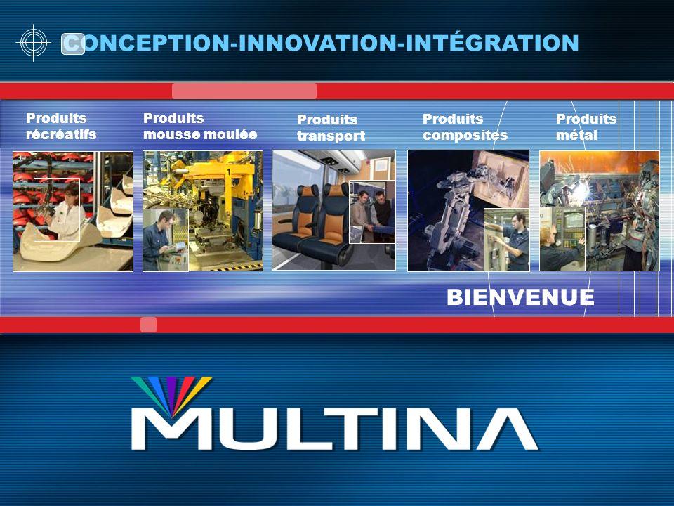 BIENVENUE CONCEPTION-INNOVATION-INTÉGRATION Produits récréatifs Produits mousse moulée Produits composites Produits métal Produits transport