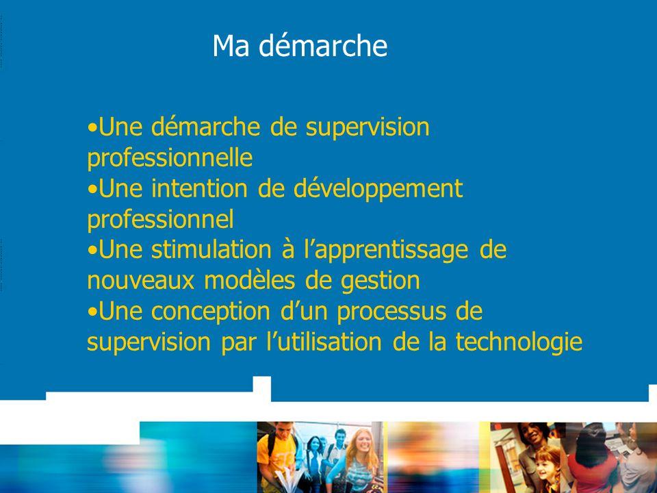 Une démarche de supervision professionnelle Une intention de développement professionnel Une stimulation à lapprentissage de nouveaux modèles de gesti