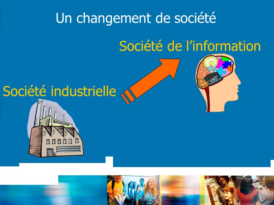 Un changement de société Société industrielle Société de linformation