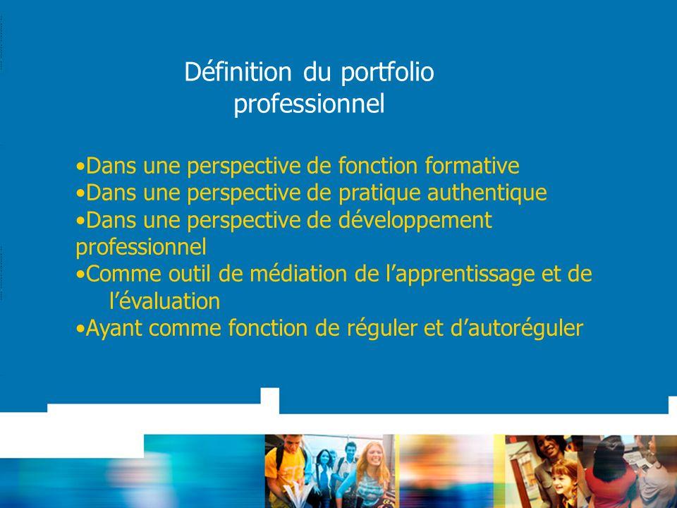 Dans une perspective de fonction formative Dans une perspective de pratique authentique Dans une perspective de développement professionnel Comme outi