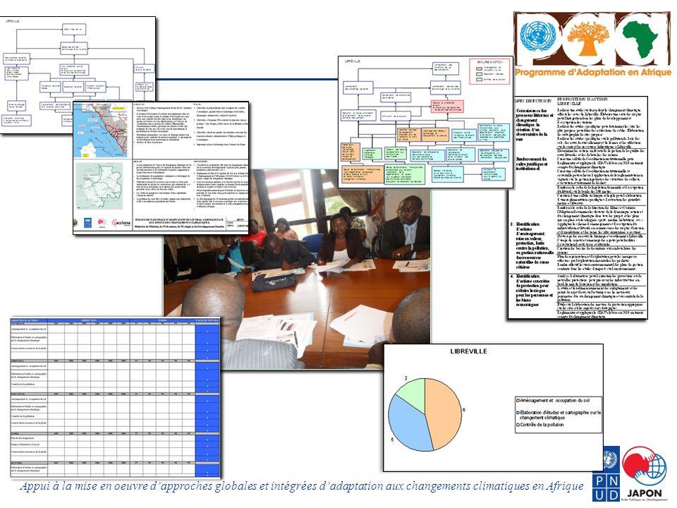 Appui à la mise en oeuvre dapproches globales et intégrées dadaptation aux changements climatiques en Afrique