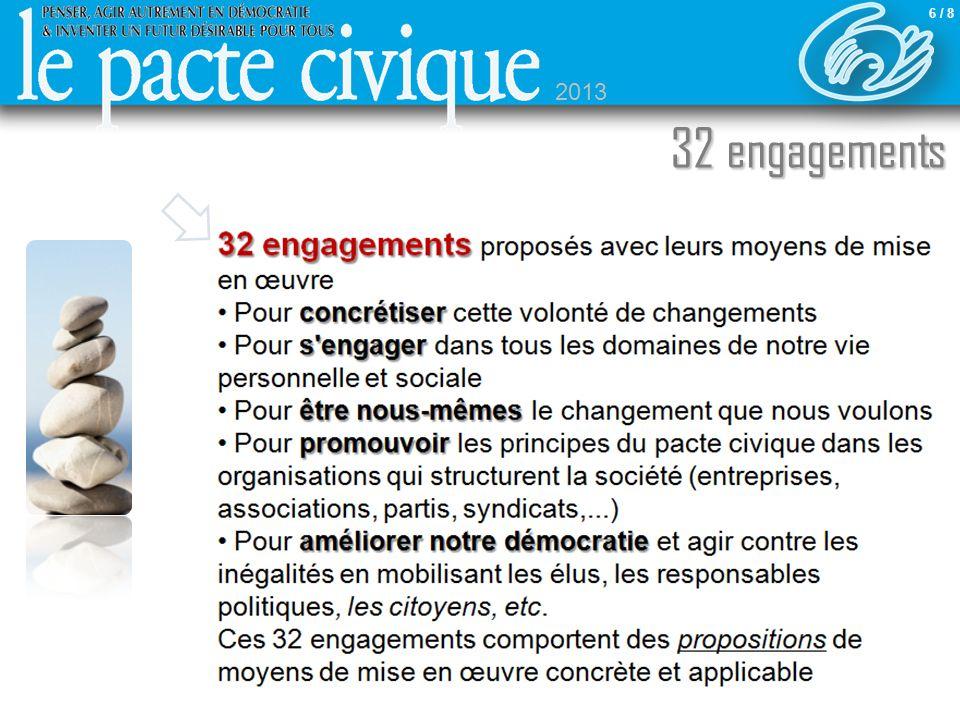 32 engagements 32 engagements proposés avec leurs moyens de mise en œuvre concrétiser Pour concrétiser cette volonté de changements s'engager Pour s'e