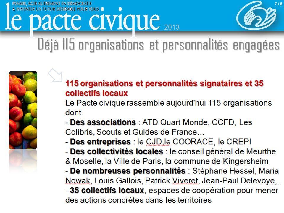 115 organisations et personnalités signataires et 35 collectifs locaux 115 organisations et personnalités signataires et 35 collectifs locaux Le Pacte
