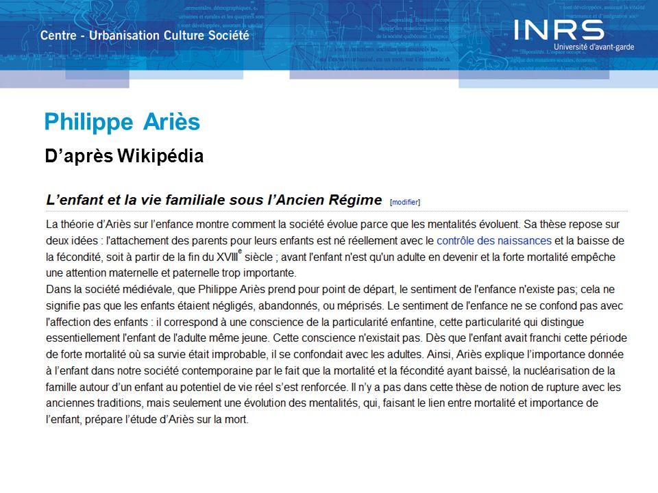 Philippe Ariès Daprès Wikipédia