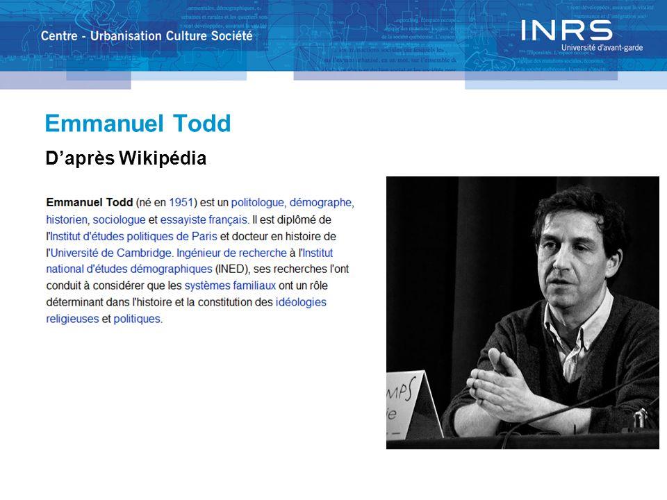 Emmanuel Todd Daprès Wikipédia