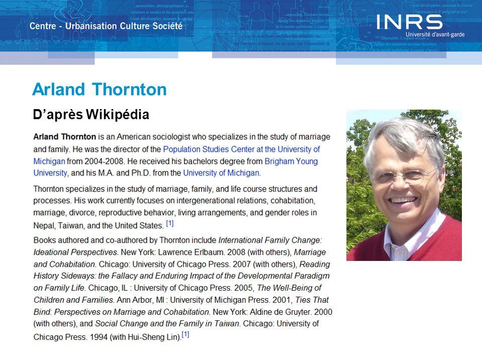 Arland Thornton Daprès Wikipédia