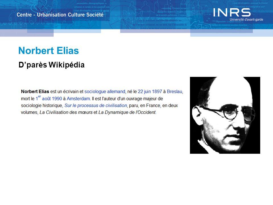 Norbert Elias Dparès Wikipédia