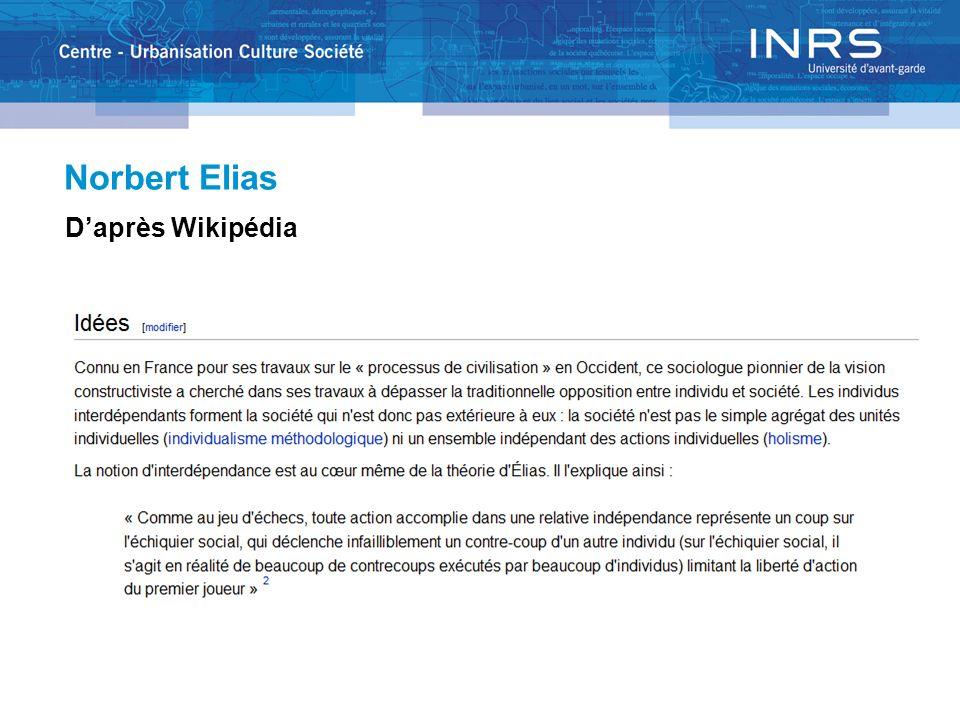 Norbert Elias Daprès Wikipédia