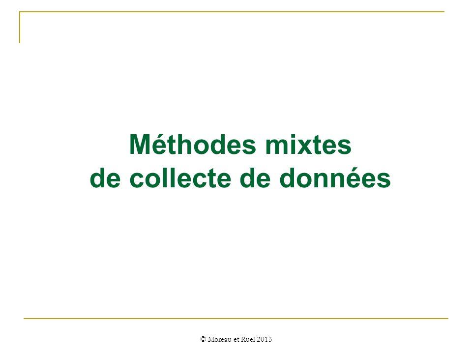 Méthodes mixtes de collecte de données © Moreau et Ruel 2013