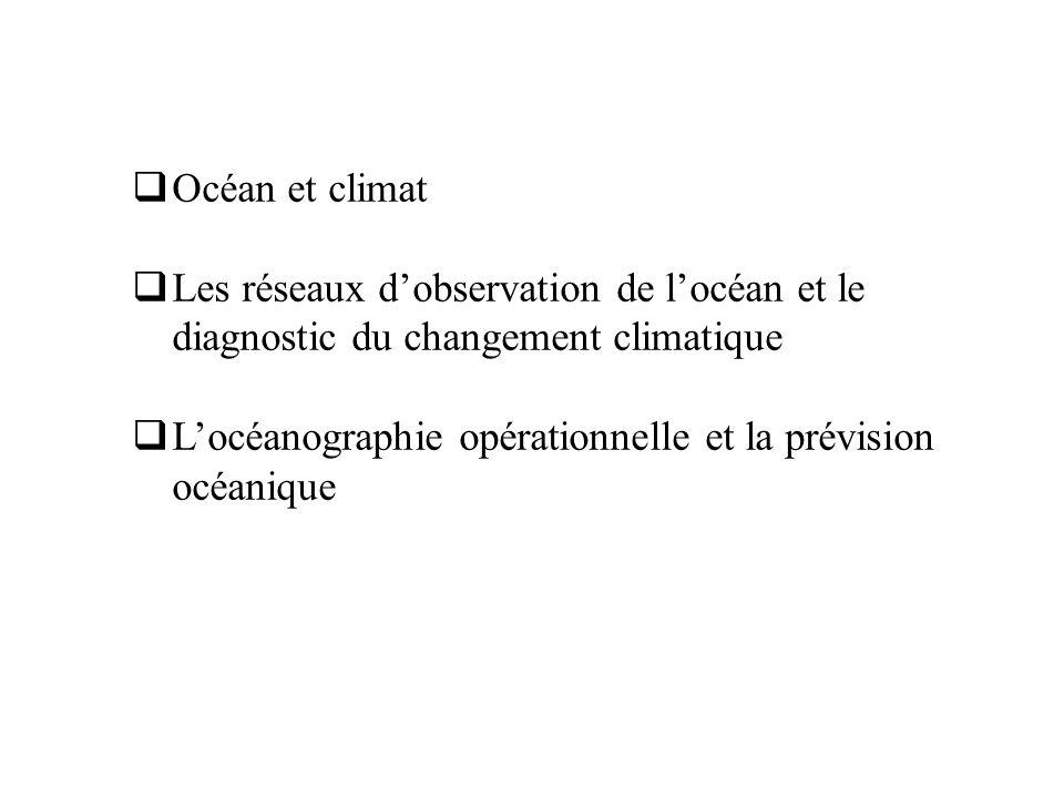 Océan et climat Les réseaux dobservation de locéan et le diagnostic du changement climatique Locéanographie opérationnelle et la prévision océanique