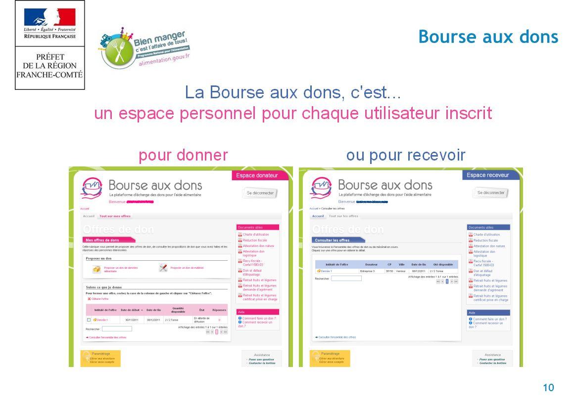 10 Bourse aux dons