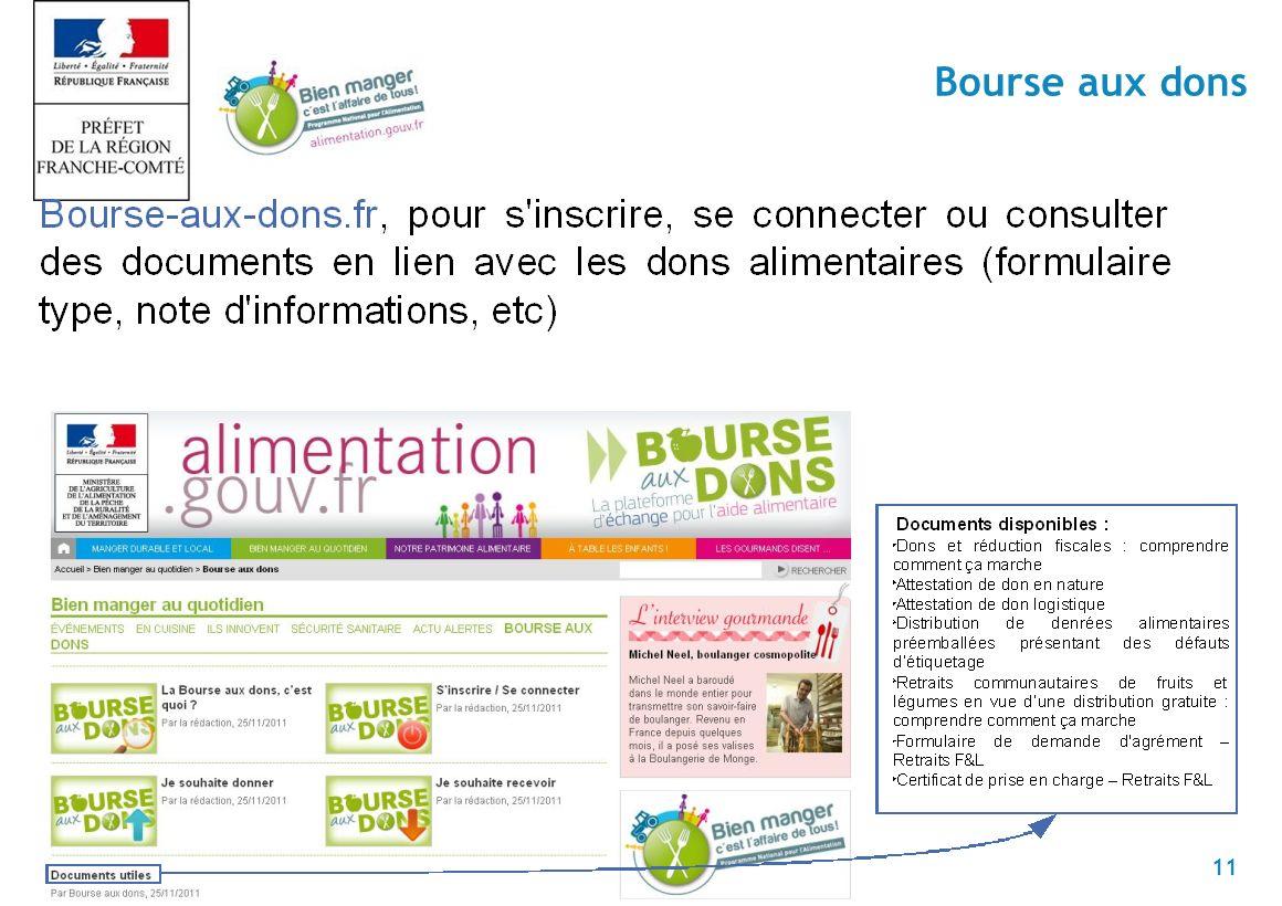 11 Bourse aux dons
